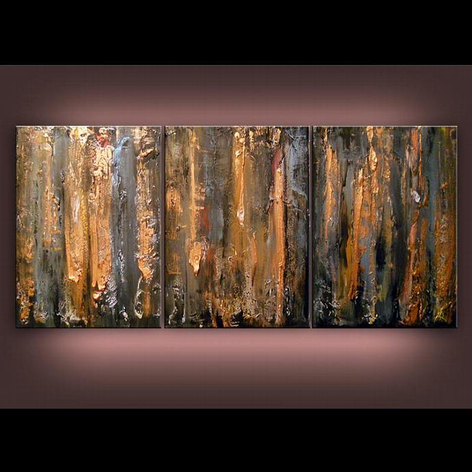 texture palette knife art acrylic abstract painting original wall art decor