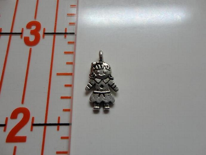 Girl Charm - Silver #002