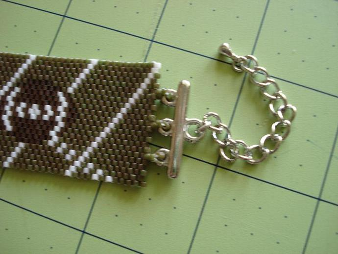 Football - Peyote Stitch Bracelet X-Large