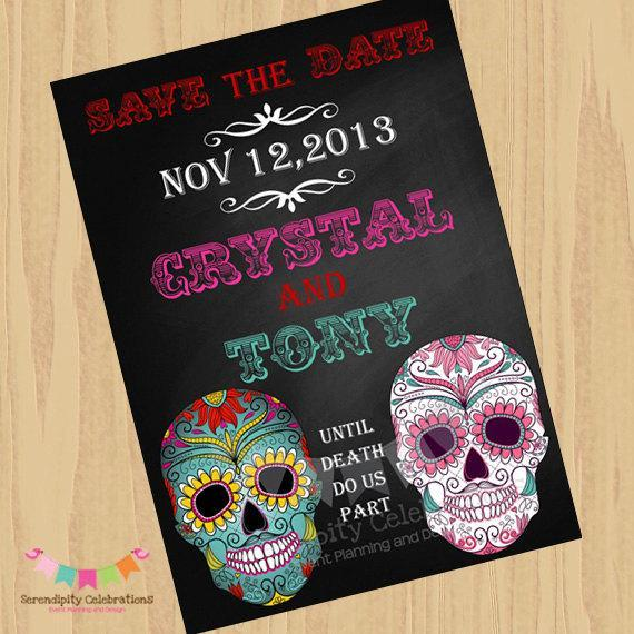 Day of the Dead Wedding Invitations frenchkittennet