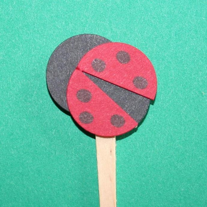 Lil' Ladybug Cake Picks (12)