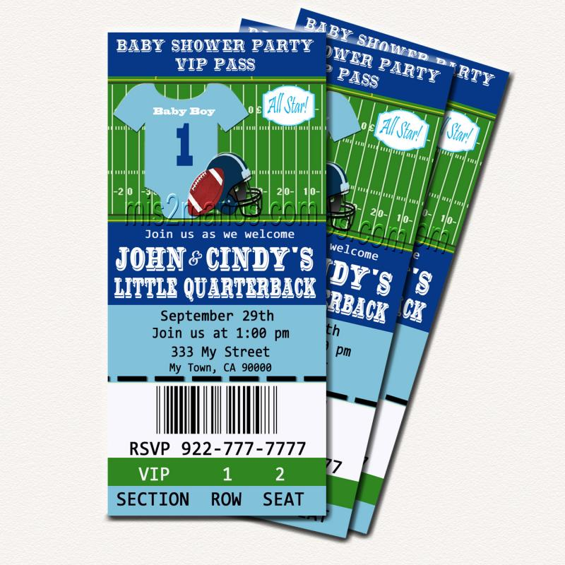 football baby shower printable ticket mis2manos