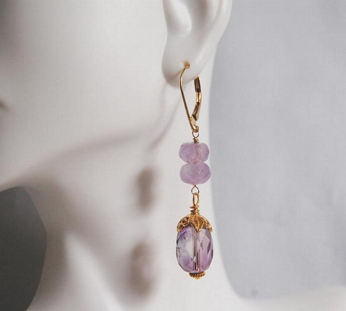 Gorgeous Amethyst  Dangle Earrings