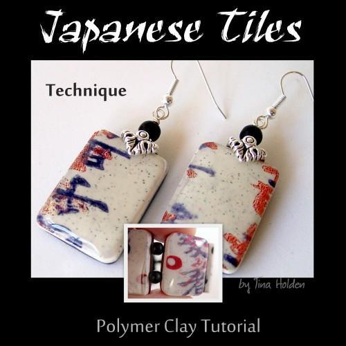 Japanese Print tiles - Polymer Clay Tutorial - Digital PDF File Download