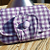 Handcrafted Purple White Gingham Wallet Clutch