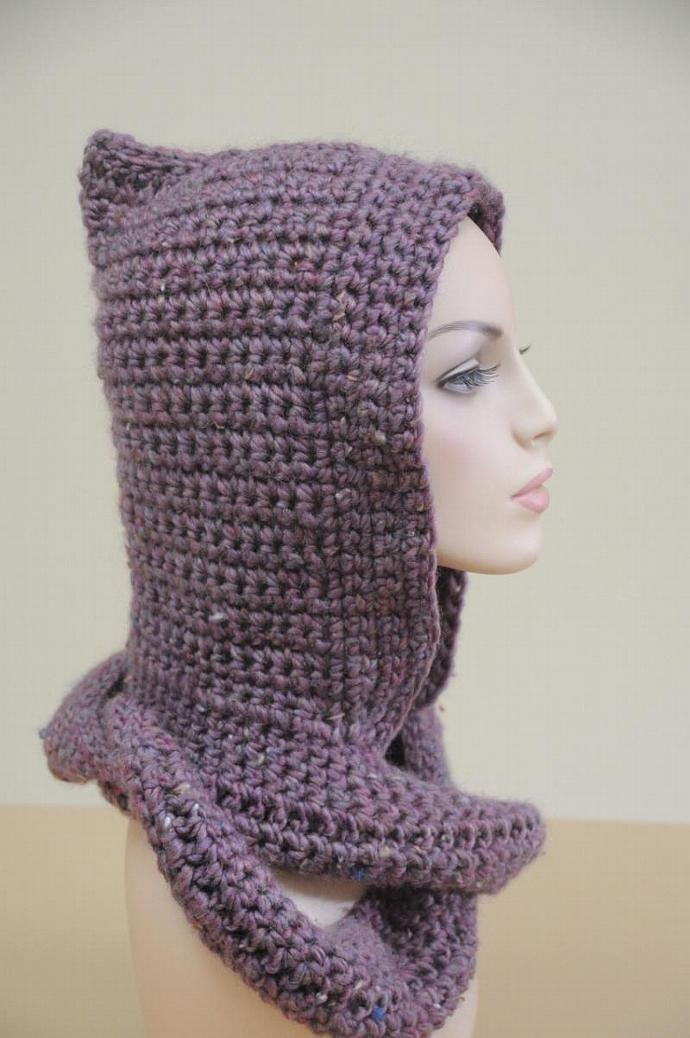 Pixie Hooded Infinity Scarf- Crochet Hood, Scarf - the ultimate solution