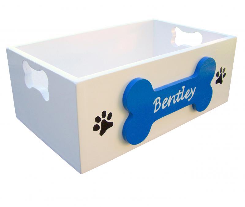 Personalized Dog Toy Box Sassyfrasstudio