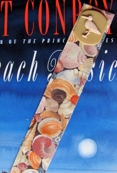 Beach Shells Ribbon Bookmark