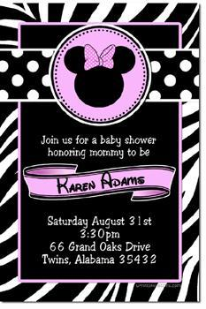 Minnie Mouse Baby Shower Invitations ALL COLORS  (Download JPG Immediately)