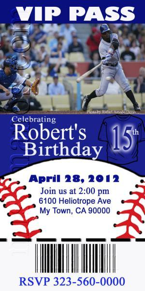 baseball invitations, printable photo card, diy  mismanos, Birthday card