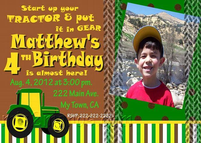gallery_hero_4316233 original pink tractor birthday party invitations with mis2manos,Tractor Birthday Party Invitations