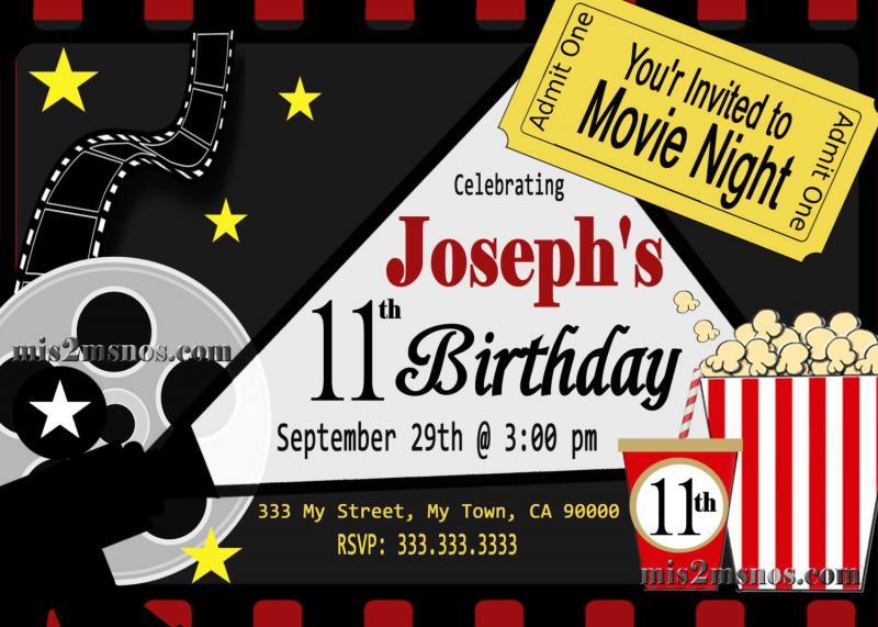 Movie Ticket Red Carpet Party Invitation | Mis2Manos