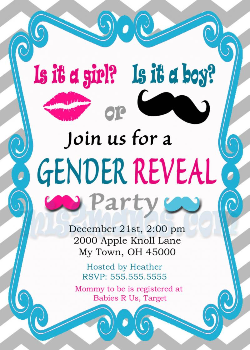 gender reveal invitation baby shower invites mis2manos
