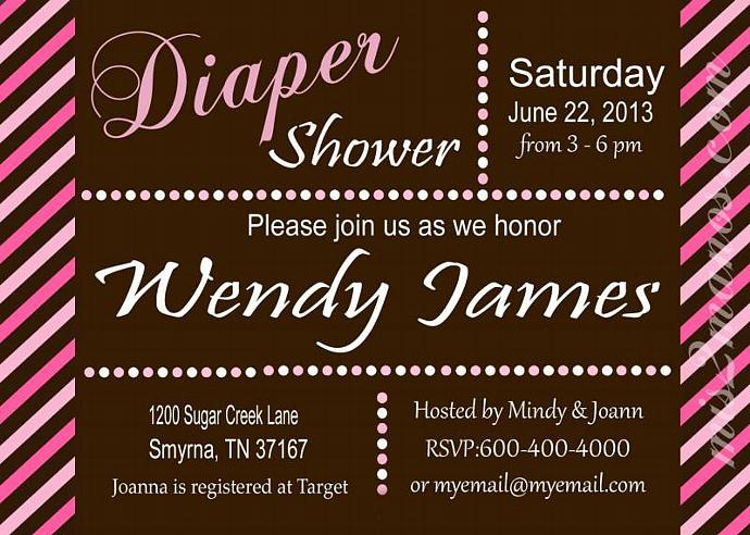 diaper shower baby shower invites diaper party  mismanos, Party invitations