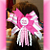 Big Sister Pink Hair Bow String Korkers Bottle Cap FREE SHIPPING