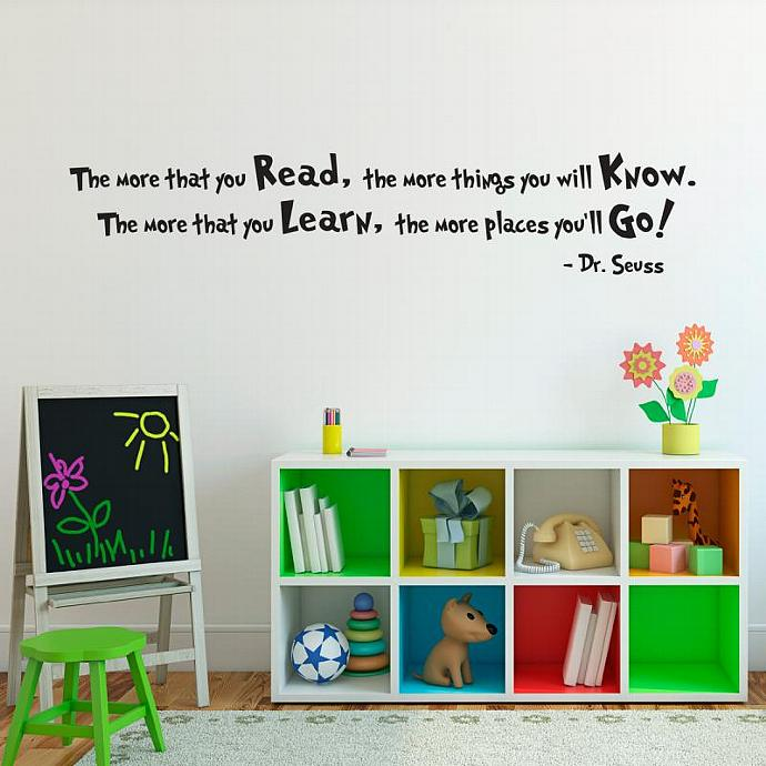 Dr Seuss Wall Art dr. seuss quote wall decal - large - | stephenedwardgraphics
