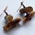 Woodland Log Earrings on Copper
