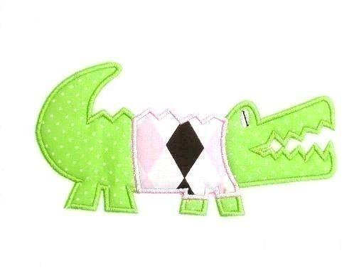 Alligator Shirt Applique Machine Embroidery Design