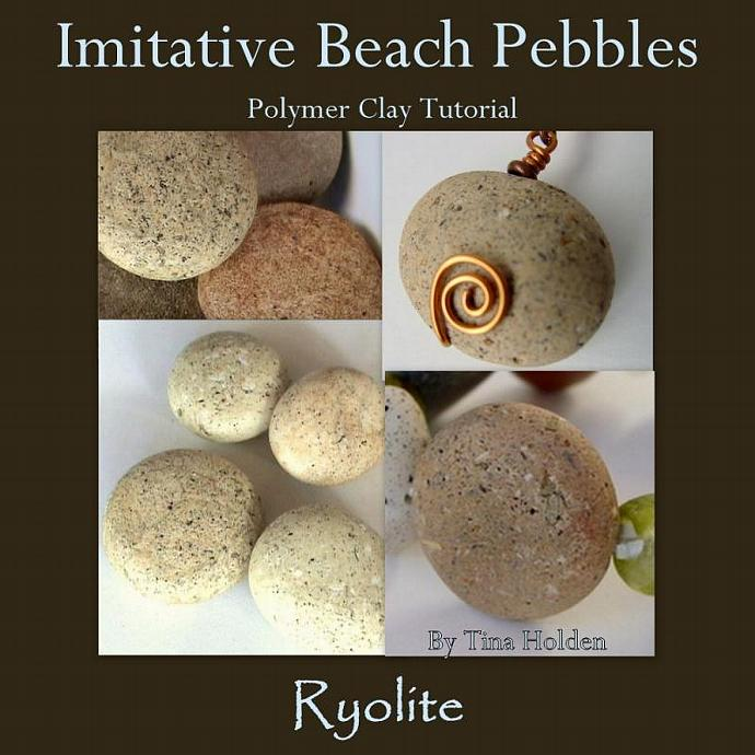 Polymer Clay Imitative Beach Stones Tutorial - Ryolite