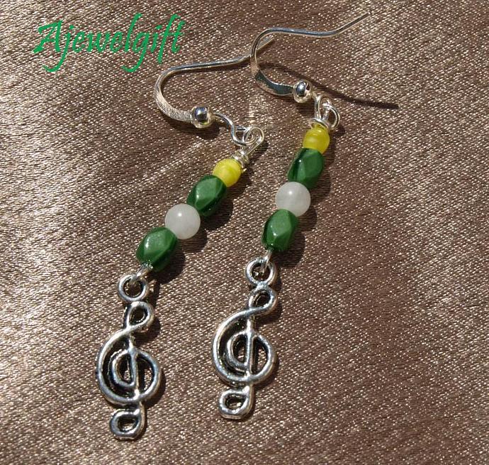 Treble Cleff Earrings 10114