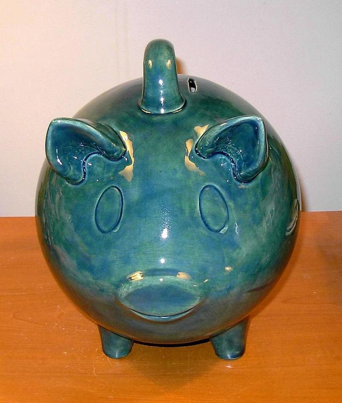 Large Ceramic Piggy Bank Vintage Design Ceramicsbylisa