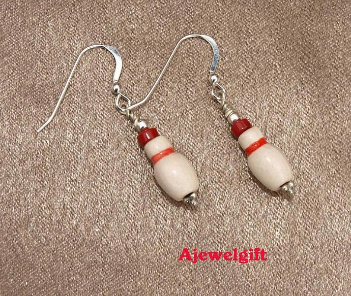 Bowling Pin Earrings 10032