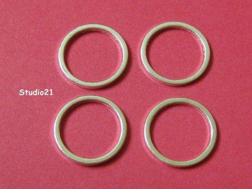 25 pcs of Bright Silver Finish Round Link 12mm