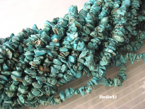 36 inch of Natural Turquoise Chips