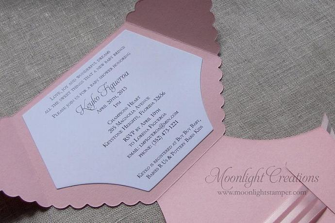 diaper shaped baby shower invitations, | moonlightstamper, Baby shower invitations