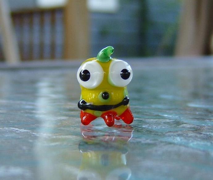 Lampwork focal Monster cutie bead