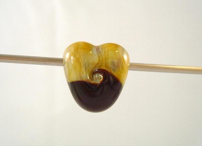 Caramel and purple heart