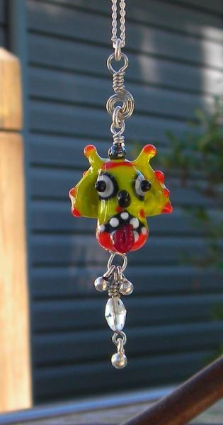 Monster halloween necklace