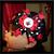 Crocheted Black Beanie Cap Red Polka Dot LADYBUG FREE SHIPPING