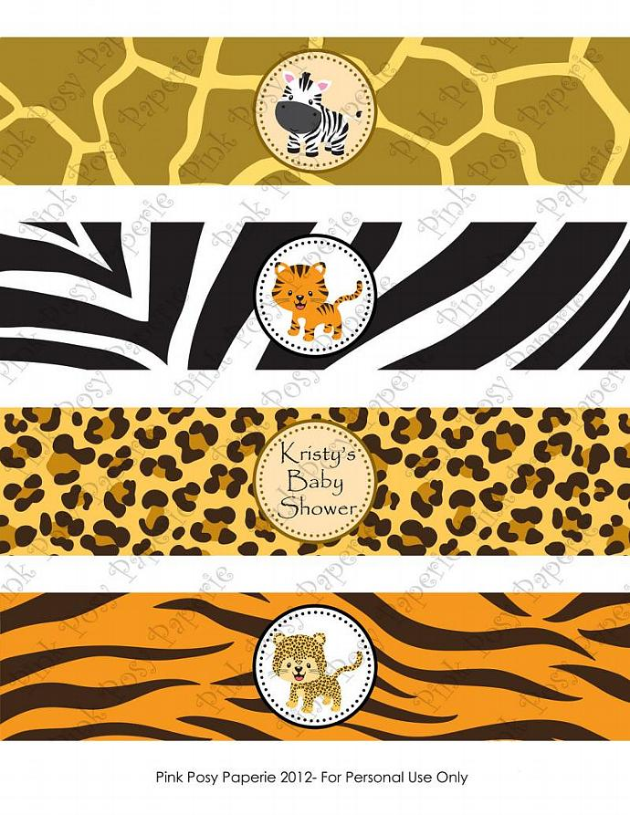 Printable DIY Jungle Safari Baby Shower by PinkPosyPaperie on Zibbet