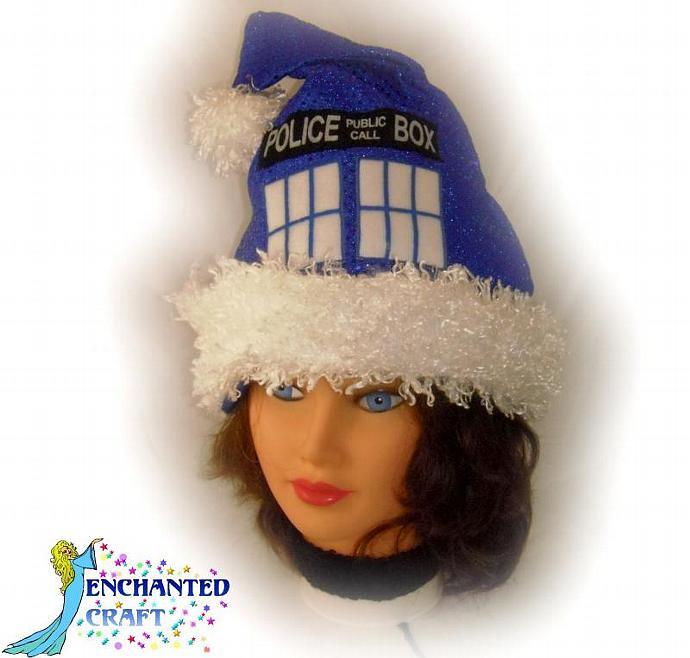 Confetti Dot TaRDIS SANTA hat for the Doctor who fan
