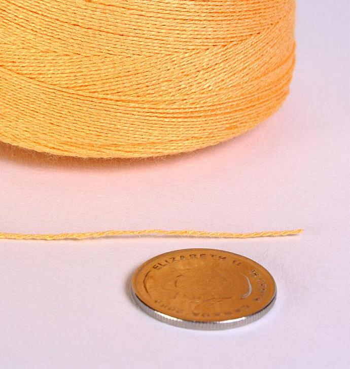 0.5mm Yellow bamboo cord twisted thread 30 feet (869)