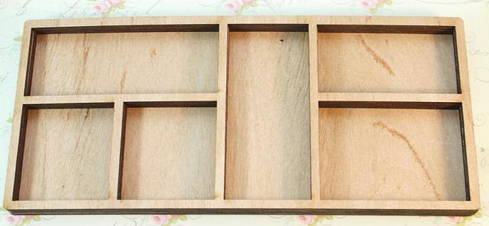 Wood big reactangle shadow box no.3