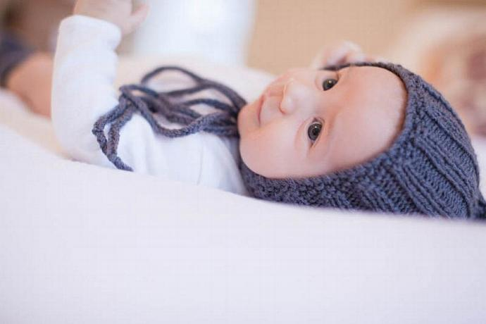 Knit Baby Ribbed Pixie Hat