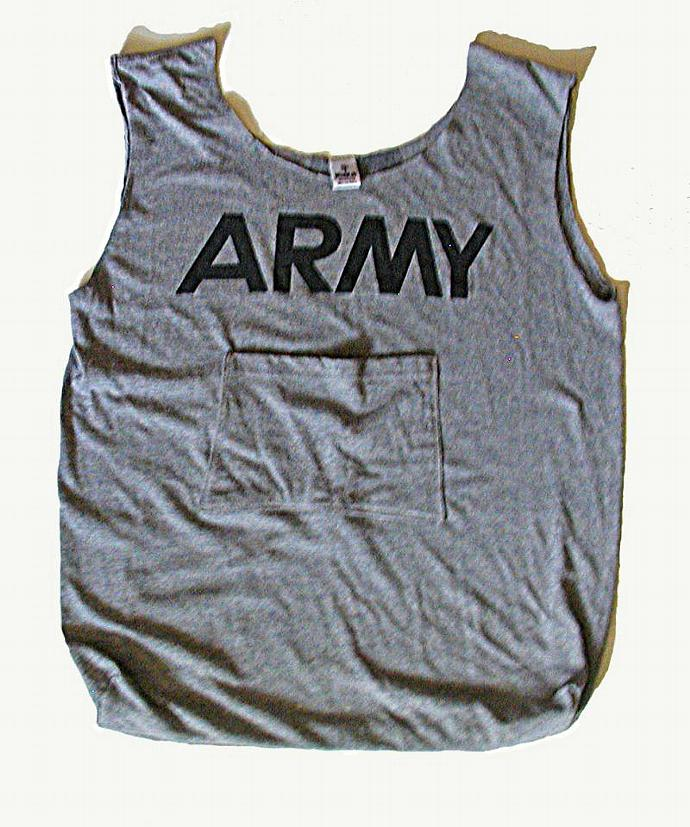 Large Army TShirt Tote Bag with Carrying Case