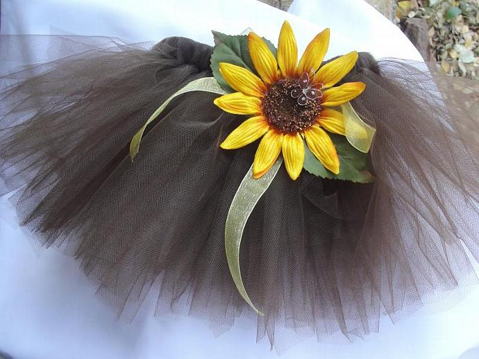 Brown Sunflower Child's Tutu