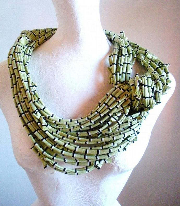 Linden Green Infinity Scarf Pantone Fall Fashion Color Pistachio Eco Friendly