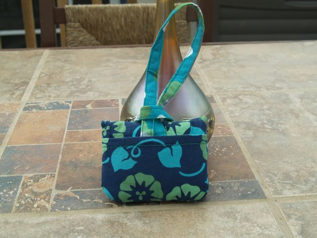 Camera Case Wristlet in Navy Turquoise Teal
