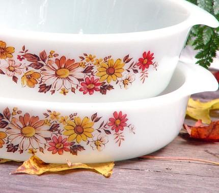 Anchor Hocking Milk Glass Cake Pan and Casserole Set