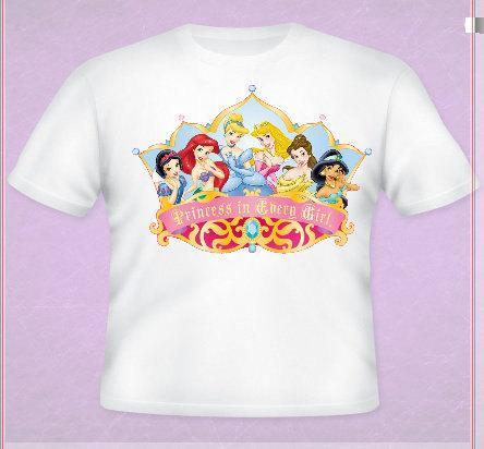 Disney PrincessTee All Sizes Free Name Included