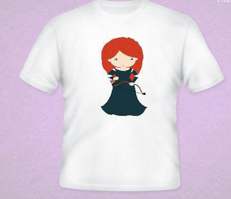 Brave Princess Merida Inspired Tee All Sizes Free Name Included