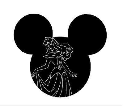 Aurora Mickey Mouse Ears Tee Shirt All Sizes Free name included