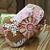 Handmade Pink and Brown Floral Clutch Handbag