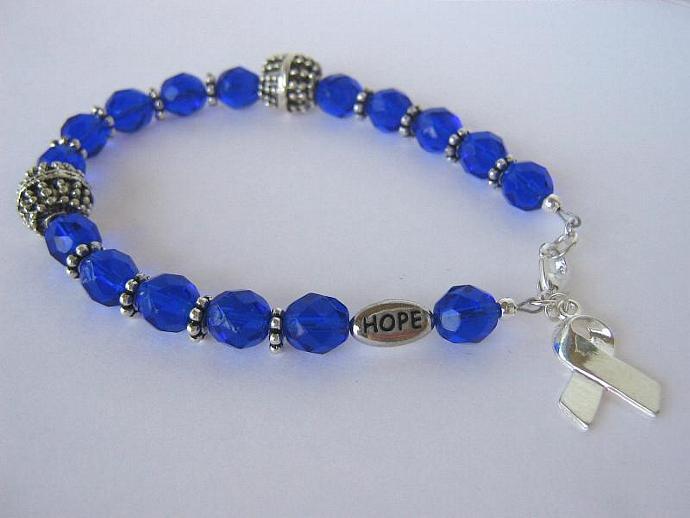 Cancer awareness bracelet blue