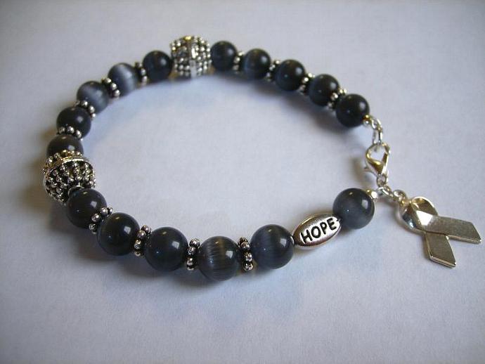 Cancer awareness bracelet black