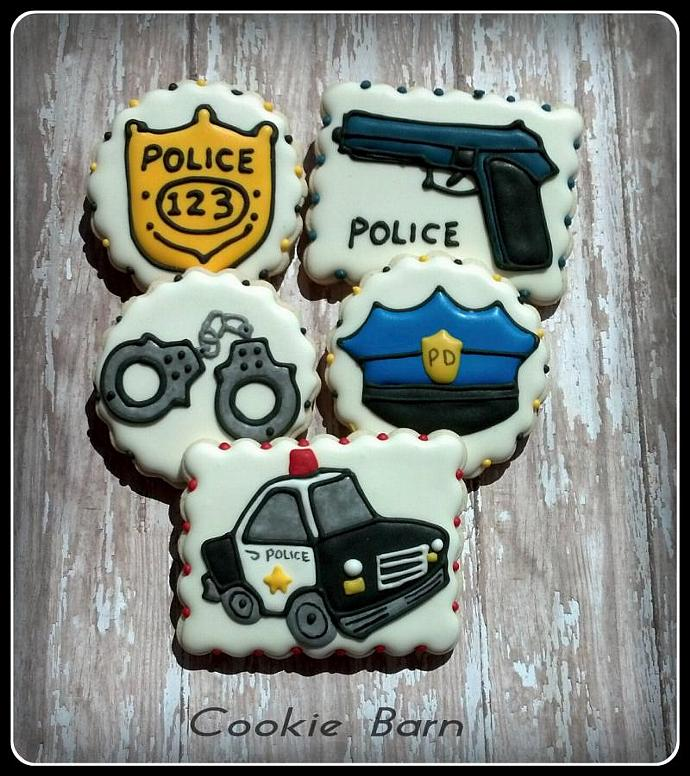 Police Officer Detective Law Enforcement Birthday Custom Decorated Sugar Cookies
